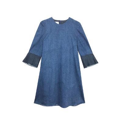 e39a00c29c ... bell cuffs denim dress blue